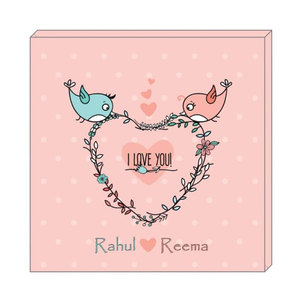 Personalised Holding together our Love Nest Canvas Wall Clock