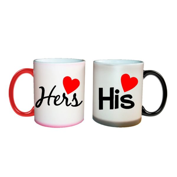 Personalized Charming His and Hers Couple Mugs-1