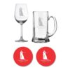 Personalized Just Married Couple Wine Beer Glasses