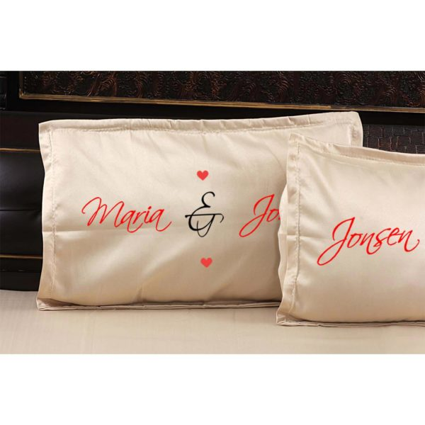 Personalized Romantic Bed Sheet for Happily Married Couple-Pillow-2