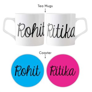 Personalized With Name Couple Tea Mugs