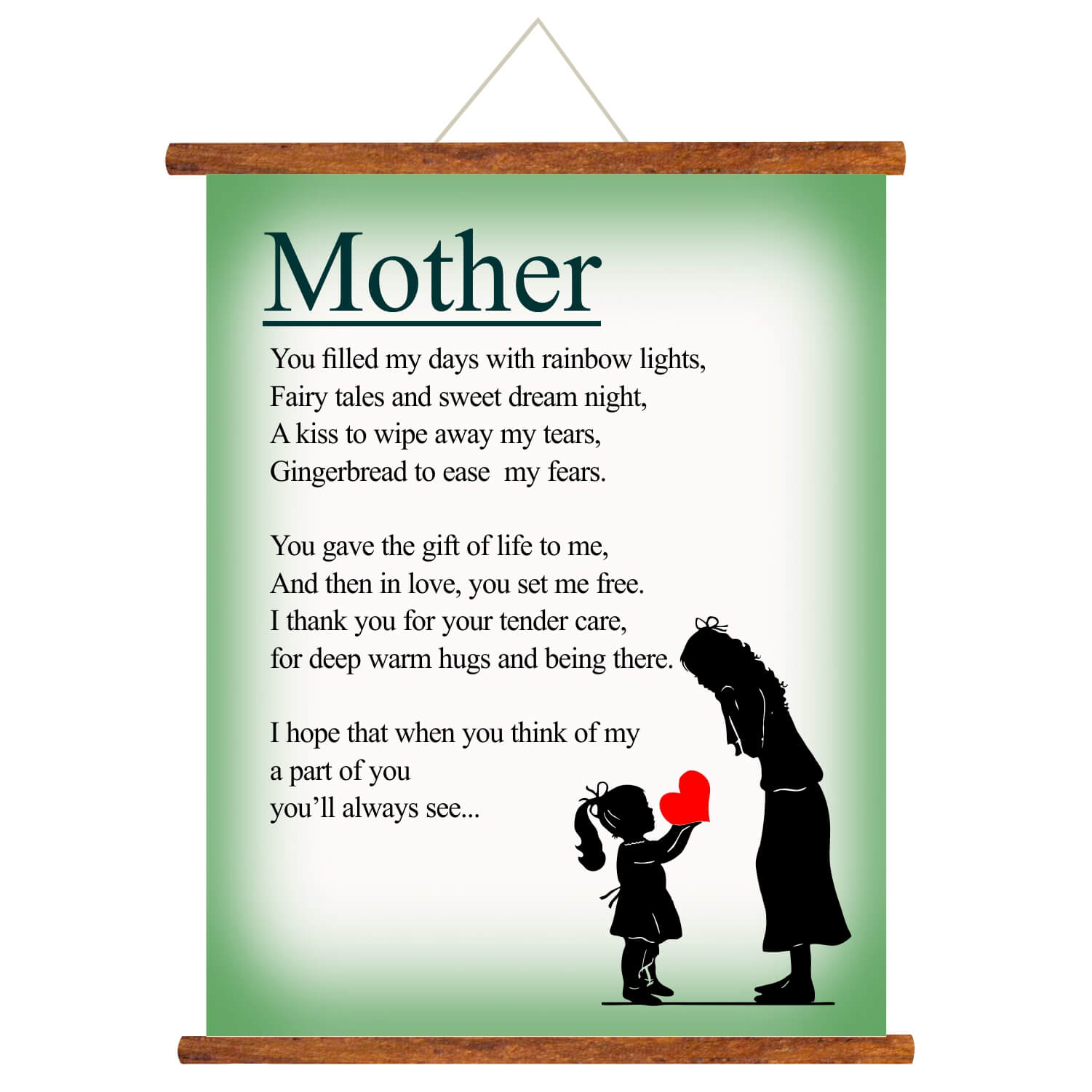 Poem For Mother Scroll Greeting Card Giftsmate Mother is already very sensitive and emotional creator of god towards her offspring but if you want to make her emotional and crying on mother's. poem for mother scroll greeting card