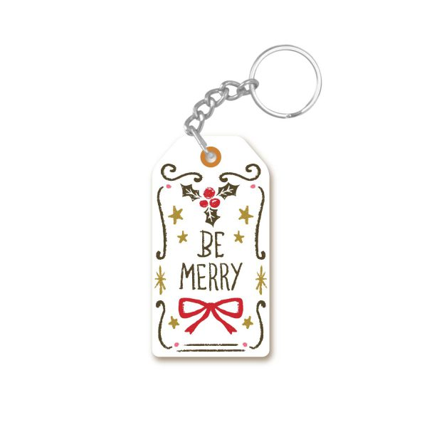 Be Merry Christmas keychain