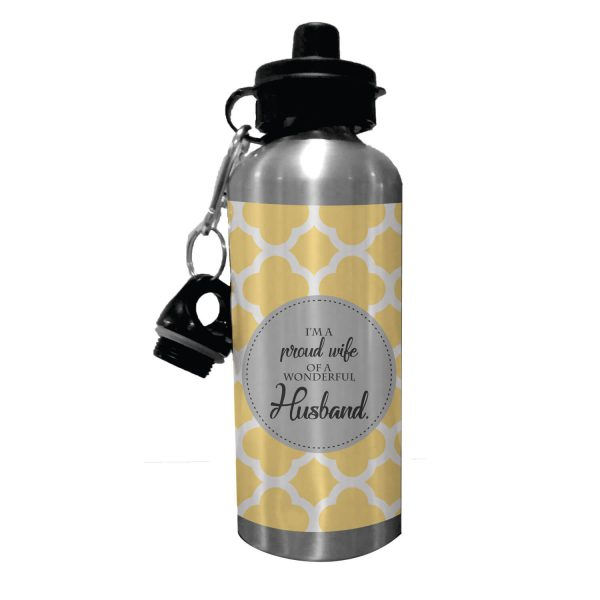 Proud Wife of A Wonderful Husband Sipper Water Bottle