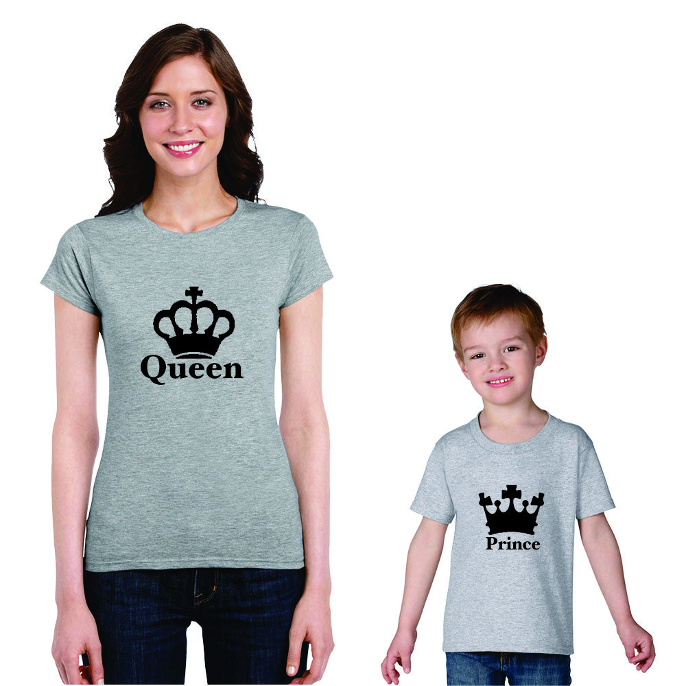 Queen and Prince Mom and son t-shirts.
