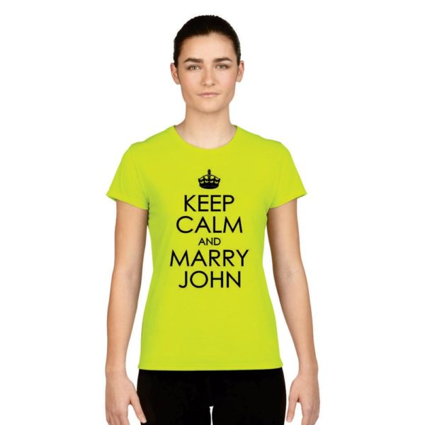 Personalized Keep Calm and Marry T shirt