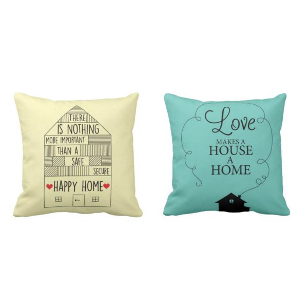 Safe and Lovely Happy Home Cushion Covers