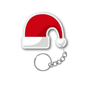Santa Claus Red Hats Christmas keychain