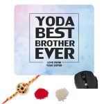 Star Wars Yoda Best Brother Ever Mousepad-1