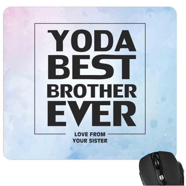 Star Wars Yoda Best Brother Ever Mousepad-2