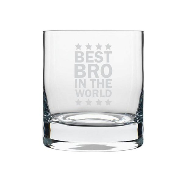 Starry Best Bro in the World Whiskey Glass-2
