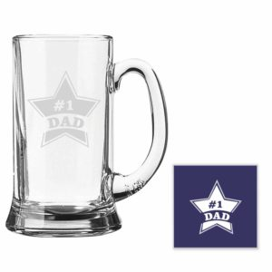 Engraved Starry No.1 Dad Beer Mug