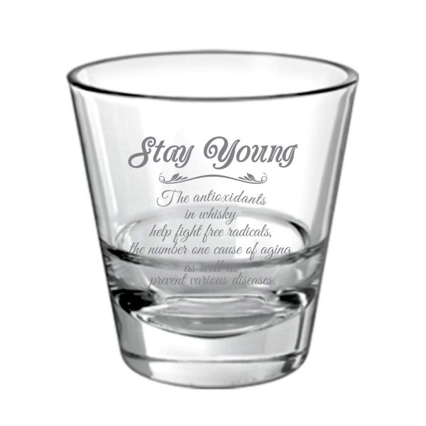 Stay Young With Engraved Whiskey Glass