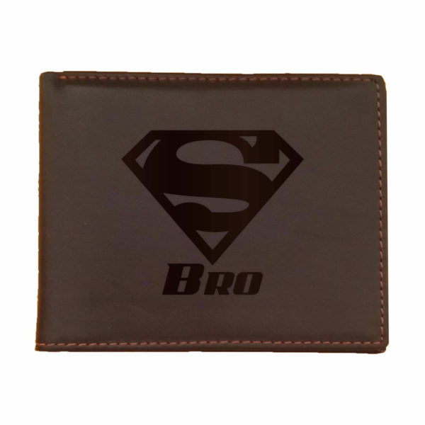 Super Bro Men's Leather Wallet for Brother_Brown