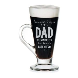 Super Hero Dad Engraved Tea Mug