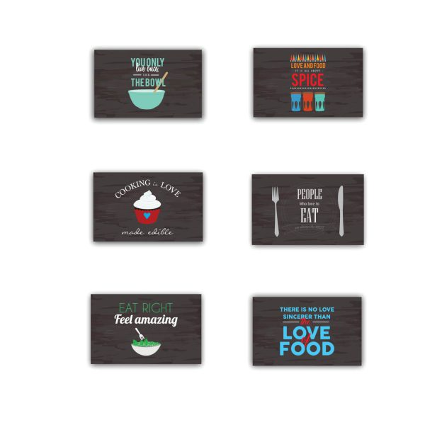 Cooking is Love Eat Right Feel Amazing Table Placemats Set of 6