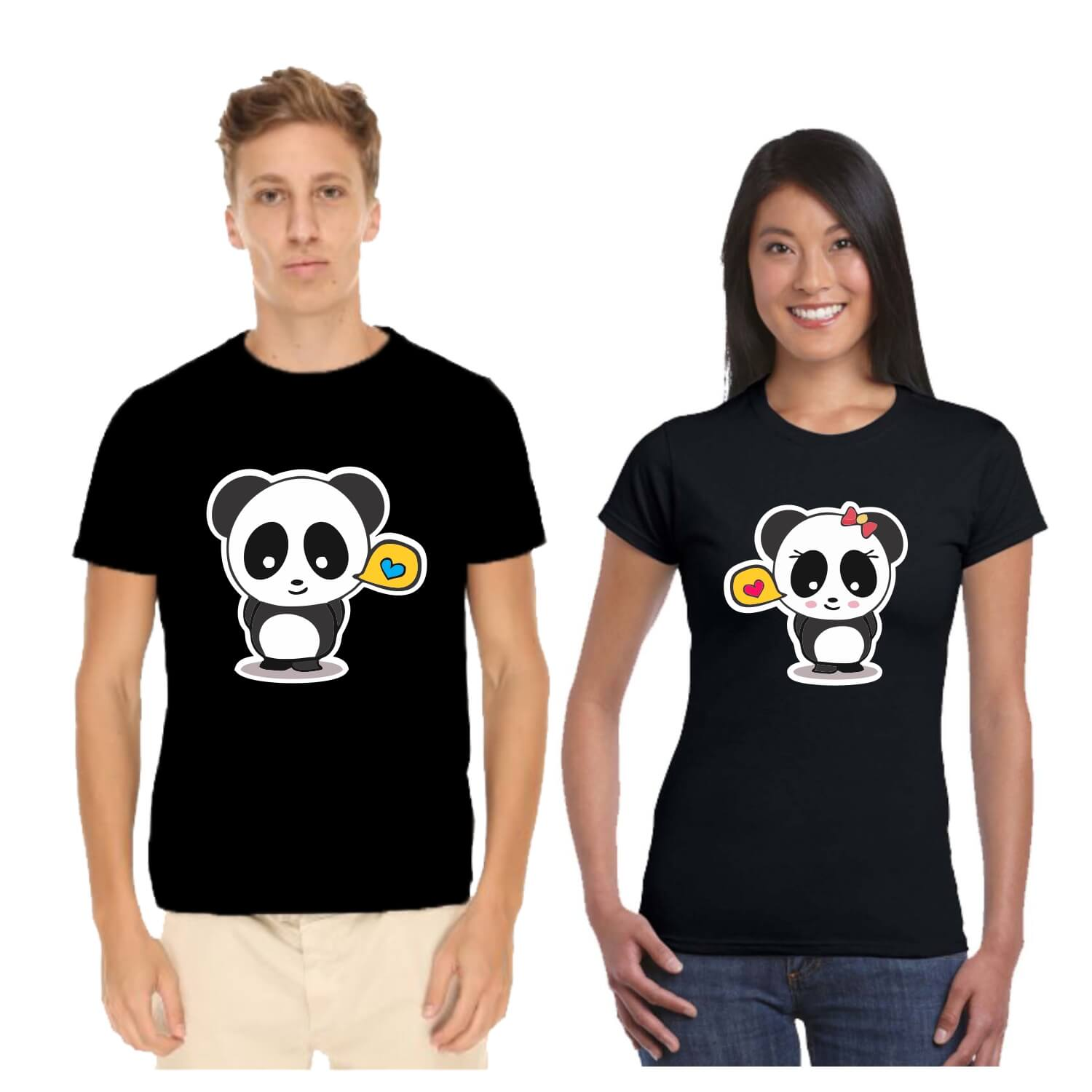 63020054db Cute Panda Couple T-shirt for Valentine Day | Giftsmate