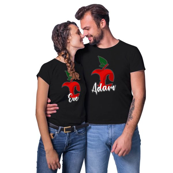 Adam Eve Couple T-shirt