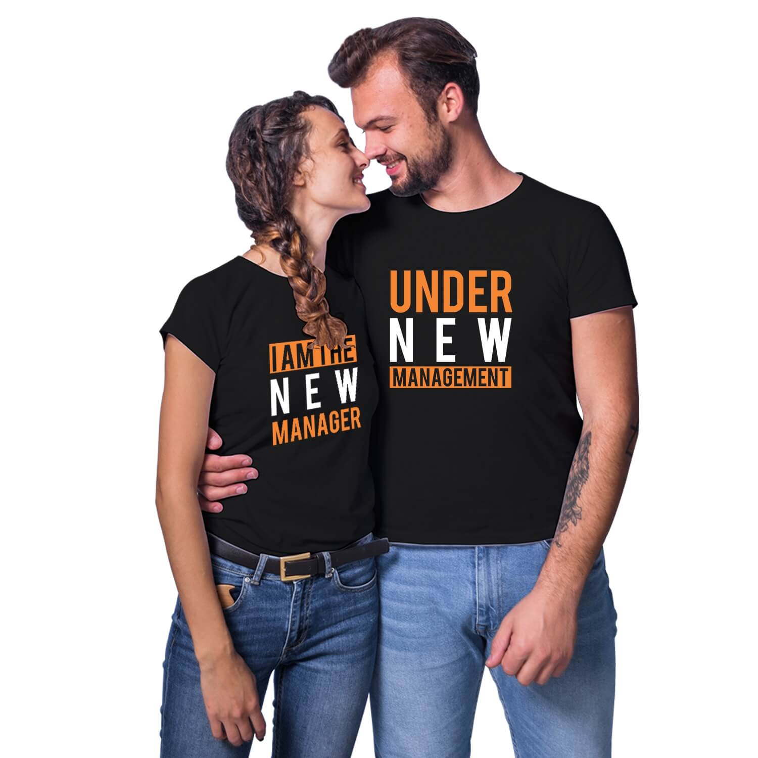 New Manager Under New Management Couple T-shirt