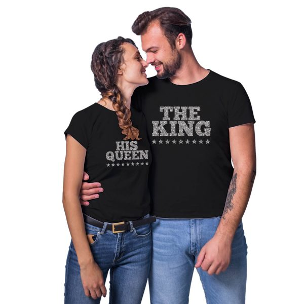 The King His Queen Couple T-shirt