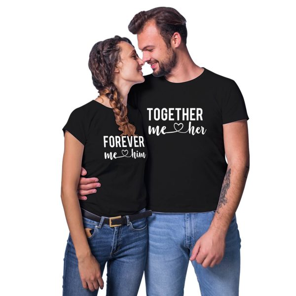 Together Forever Him Her Couple T-shirt