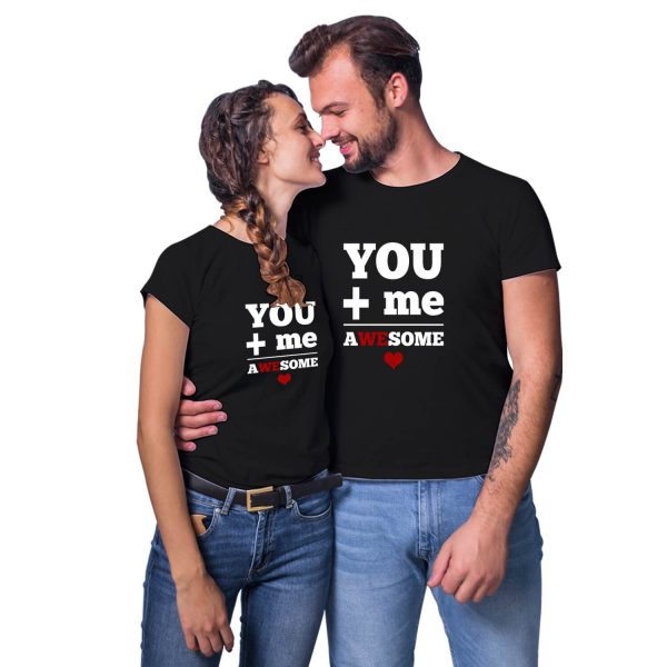 You Me Awesome Couple T-shirt