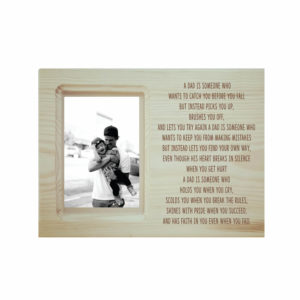 Thanks for Your Faith Dad Engraved Poem Photo Frame