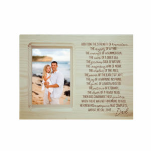 The Masterpiece Dad Engraved Poem Photo Frame