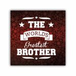 The Worlds Greatest Brother Coffee Mug With Coaster Roli Chawal