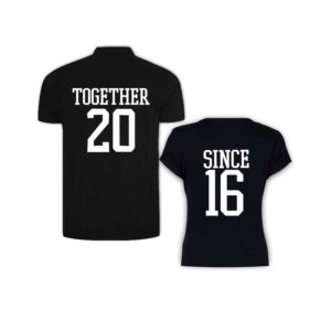 Together Since 2016 Couple T-shirt