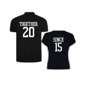 Together Since Couple Polo Round Neck T-shirt_2015
