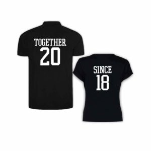 Together Since Couple Polo Round Neck T-shirt_2018