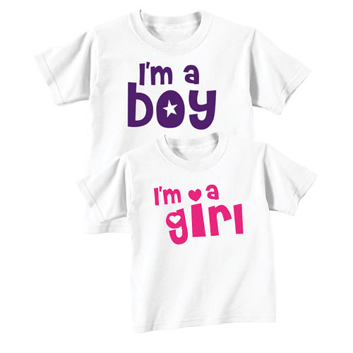 Starry Boy and Girl Sibling T-shirts
