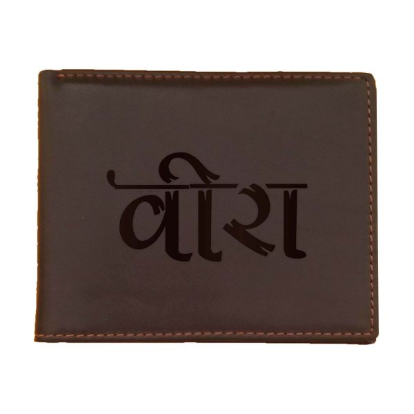 Veera Men's Leather Wallet for Brother_Brown