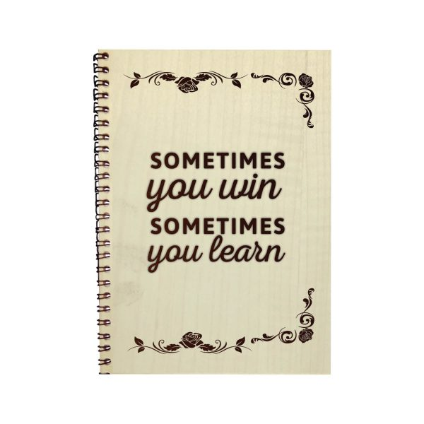 Engraved Win and Learn Motivational Diary