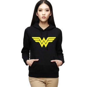 Wonder women Black Sweatshirt With Hoodie