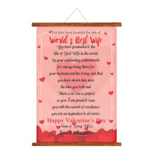 World Best Wife Greeting Card Scroll