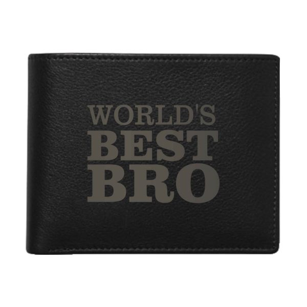 Worlds Best Bro Men's Leather Wallet for Brother