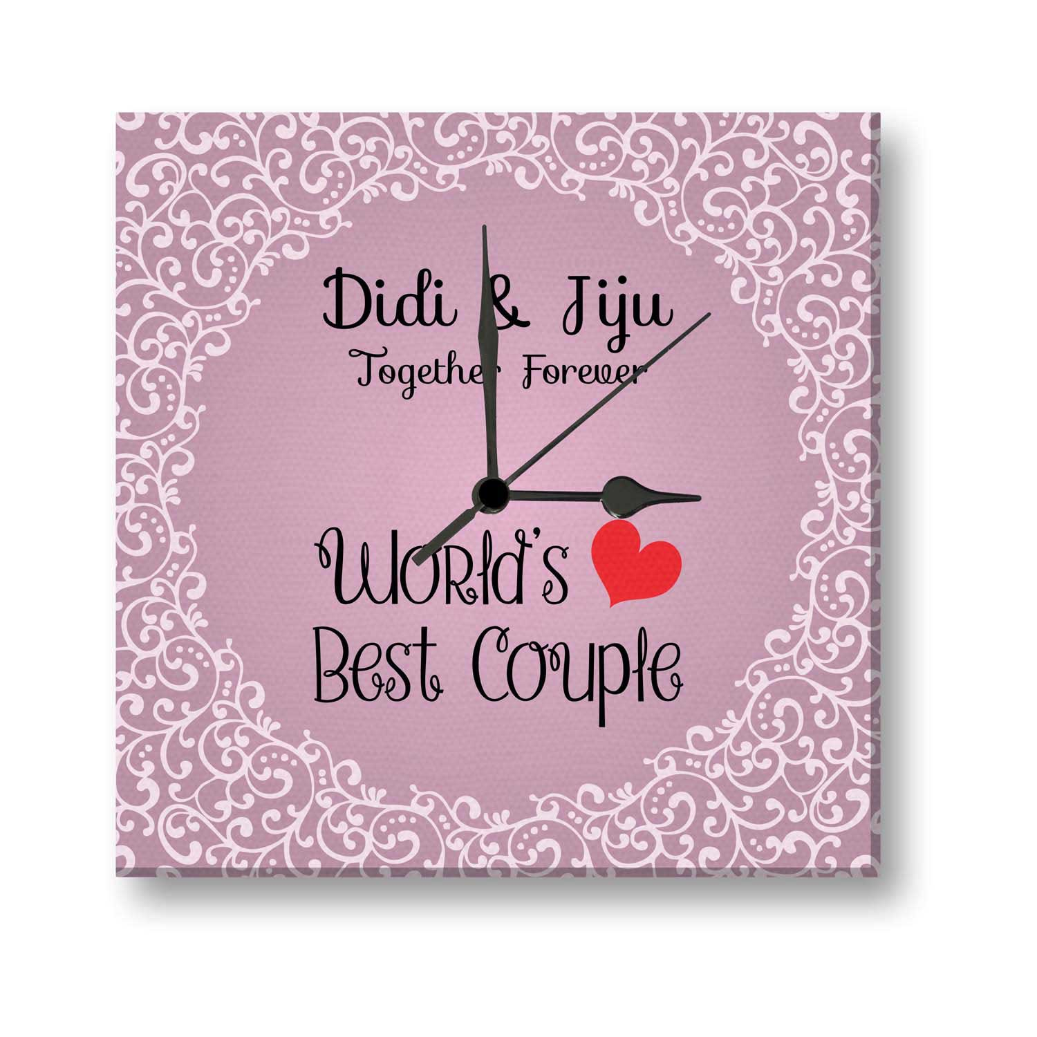 Wedding Anniversary Quotes To Sister: Worlds Best Couple Didi And Jiju Canvas Wall Clock
