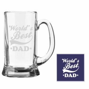 Engraved World's Best Dad Beer Mug