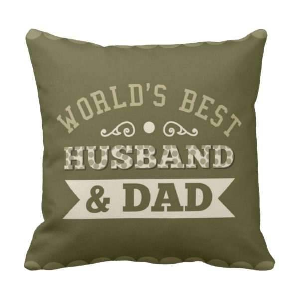 World's Best Husband & Dad Cushion Cover For Father