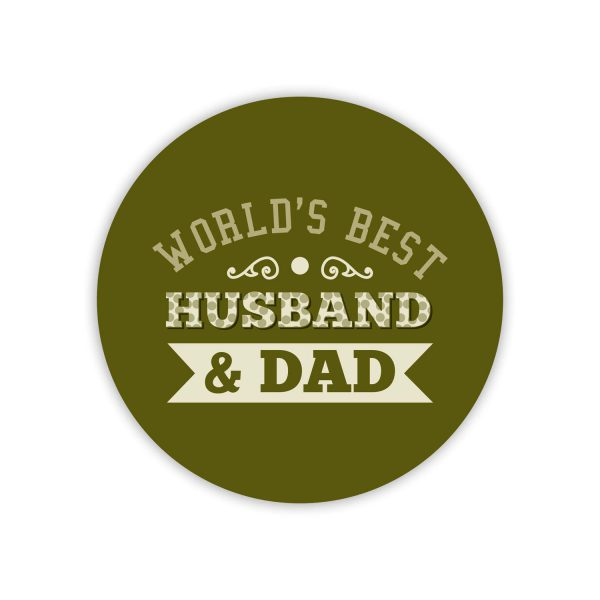 World's Best Husband and Dad Coaster