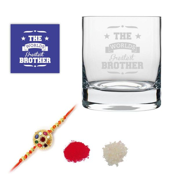 Worlds Greatest Brother Whiskey Glass-1