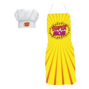 Gifts for Mom, Super Mom Aprons Yellow