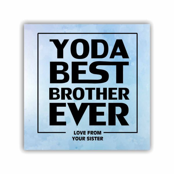 Yoda Best Brother Ever Coaster