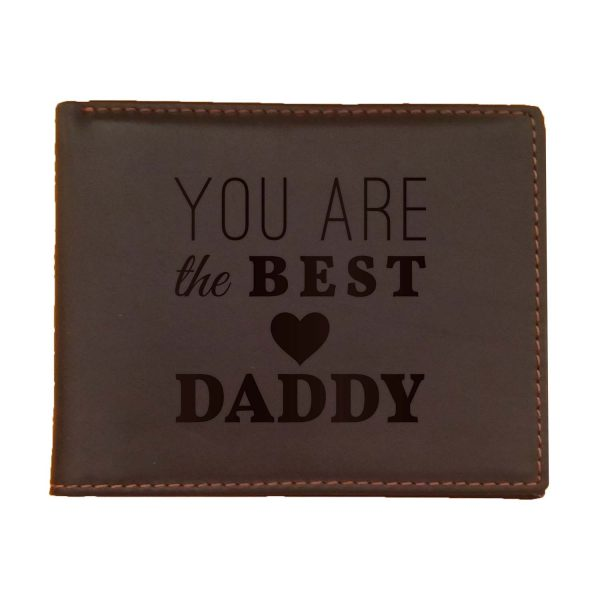 You Are The Best Daddy Men's Leather Wallet