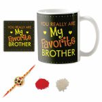 You Really Are My Favorite Brother Coffee Mug With Coaster Roli Chawal