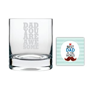 You are Awesome Dad Whiskey Glass