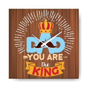 You are King Dad Canvas Wall Clock