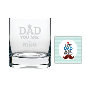 You are King Dad Whiskey Glass